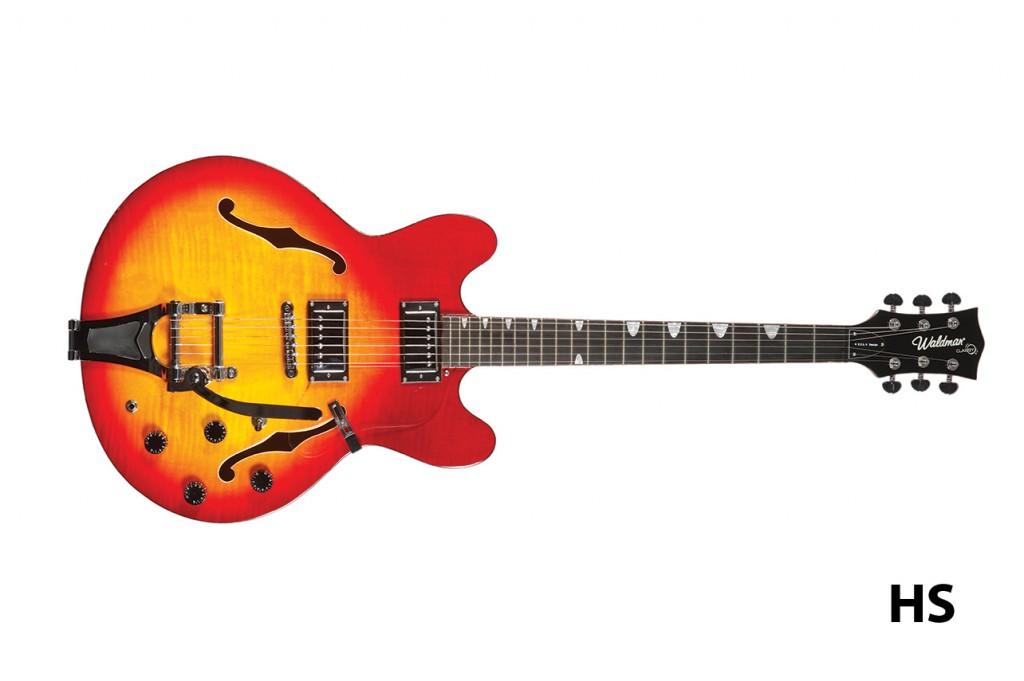 Waldman - Guitarra Semiacustica Prince Flamish Bigsby GHO_250 BG